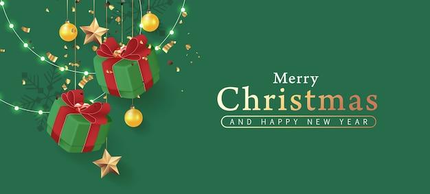 Kerst decoratieve rand gemaakt van feestelijke elementen achtergrond.