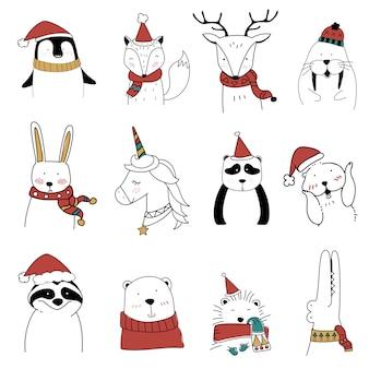 Kerst dieren set