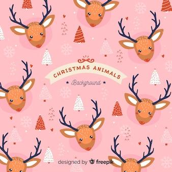 Kerst dierenpatroon