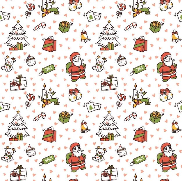 Kerst doodle achtergrond