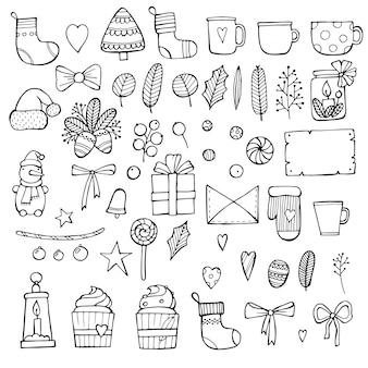 Kerst doodle collectie