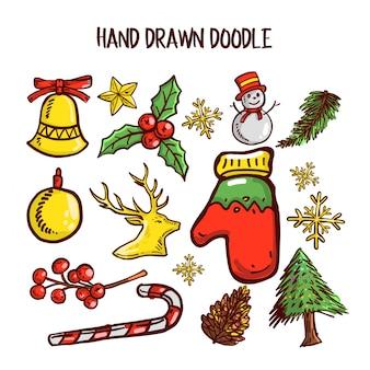 Kerst doodle kunst set