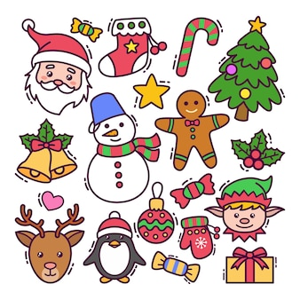 Kerst doodle set