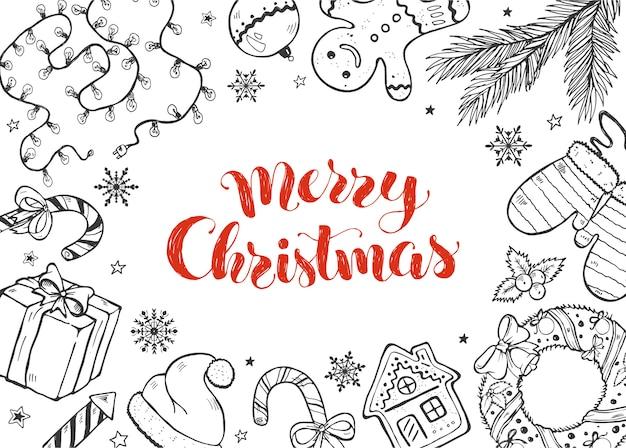 Kerst doodles collectie