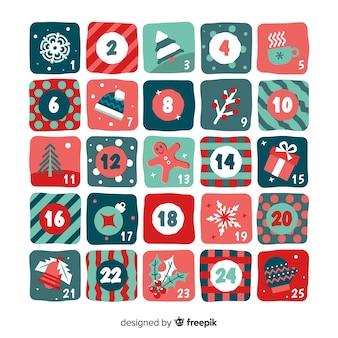 Kerst elementen adventkalender