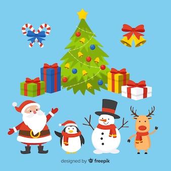 Kerst elementen instellen