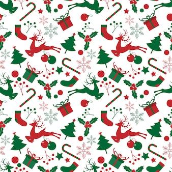Kerst elementen naadloze patroon.