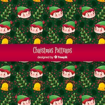 Kerst elementen patroon