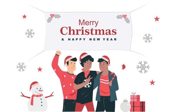 Kerst en nieuwjaar met vrienden