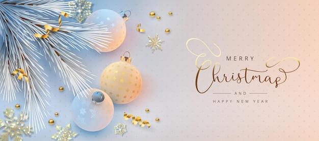 Kerst- en nieuwjaarsbanner