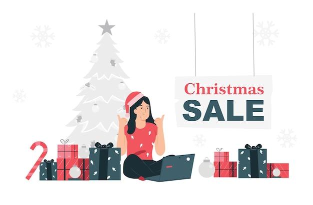 Kerst- en nieuwjaarsverkopen vieren kerst door te verkopen