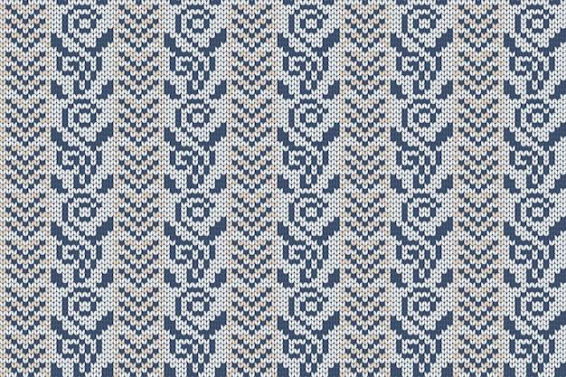 Kerst- en wintervakantie breipatroon voor plaid, sweaterontwerp. naadloze patroon.