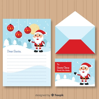 Kerst envelop en brief ontwerp