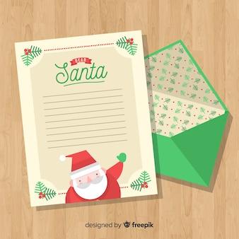 Kerst envelop en brief