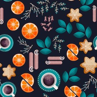 Kerst eten naadloze patroon