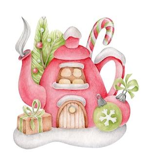 Kerst fantasie huis