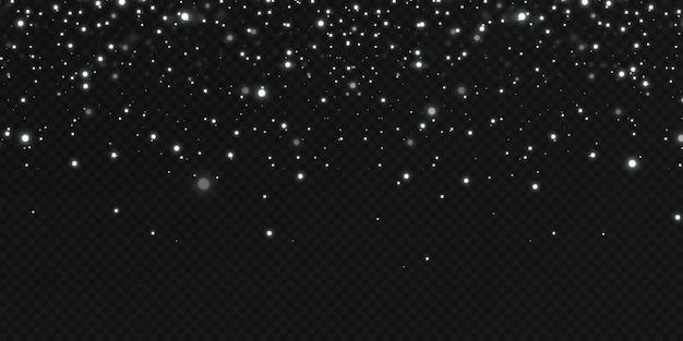 Kerst feestelijke achtergrond van lichte confetti kleine glanzende lichten. glinsterende textuur kerst