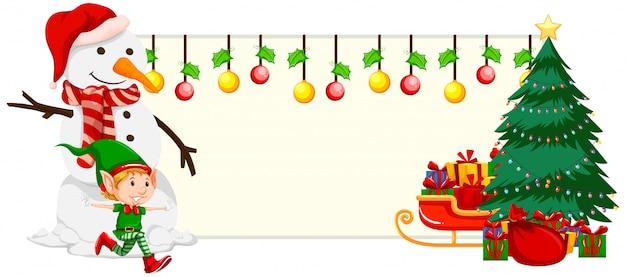 Kerst feestelijke banner concept