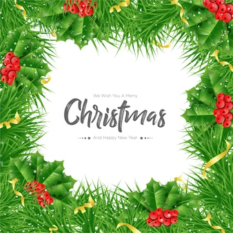 Kerst fir takken achtergrond