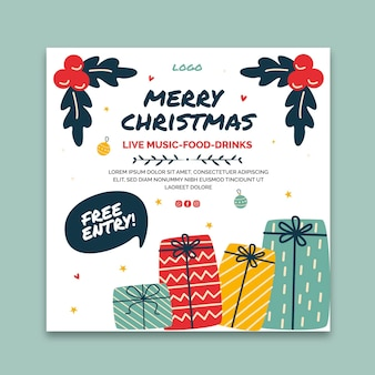 Kerst flyer-sjabloon