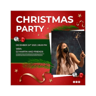 Kerst flyer vierkant