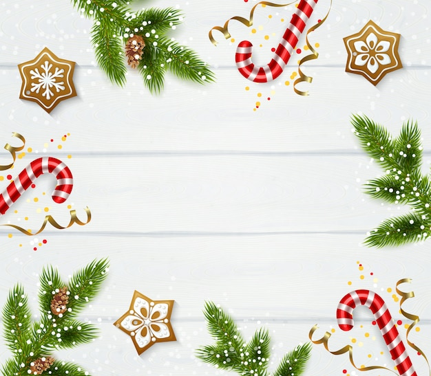 Kerst frame sjabloon