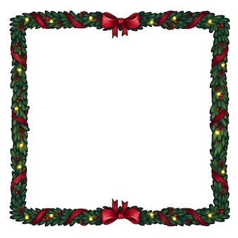Kerst frame van kerstboom.
