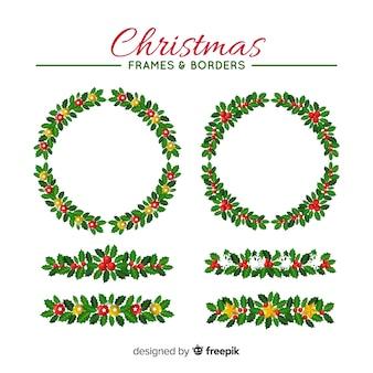 Kerst frames en grenzen collectie