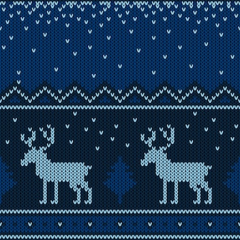 Kerst gebreide patroon.