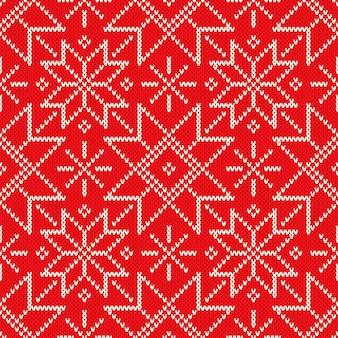 Kerst gebreide trui patroon ontwerp met kerst sterren wol gebreide textuur imitatie