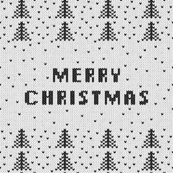 Kerst gebreide trui patroon.