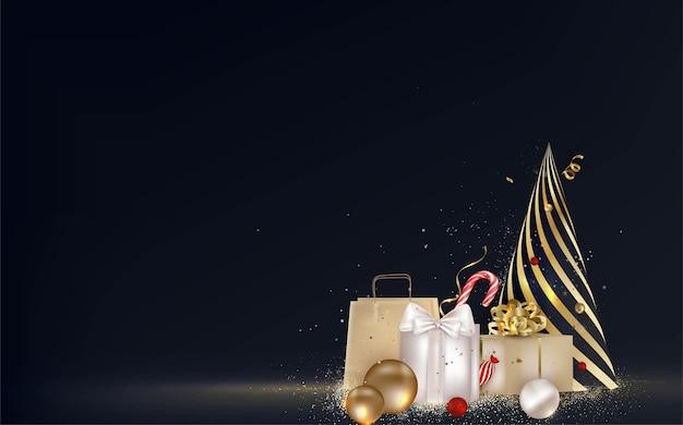 Kerst geschenkdozen, cadeautjes met vakantie decoratie