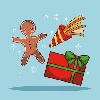 Kerst gingerman geschenk vak viering feestelijk