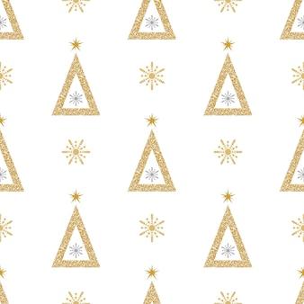 Kerst glitter patroon