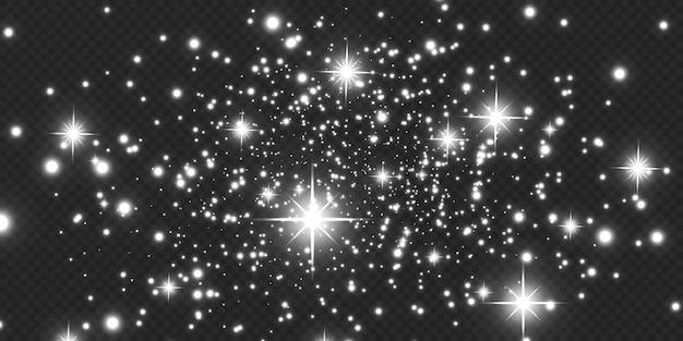 Kerst gloeiend licht bokeh confetti en vonk overlay textuur