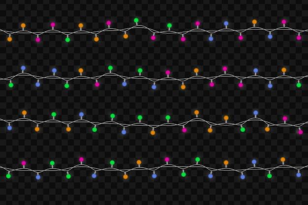 Kerst gloeiende lichten.