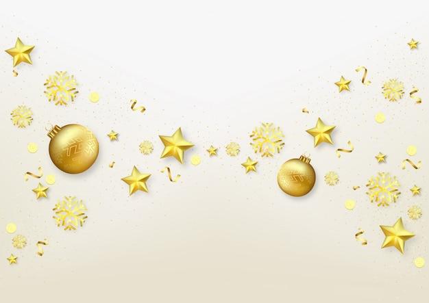 Kerst gouden ornamenten