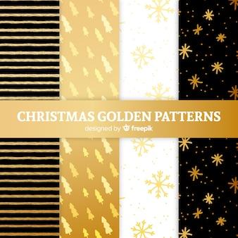 Kerst gouden patroon collectie