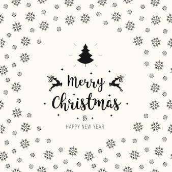Kerst groet ornamenten kaart sneeuwvlokken patroon