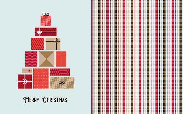 Kerst groeten kaart en naadloze patroon