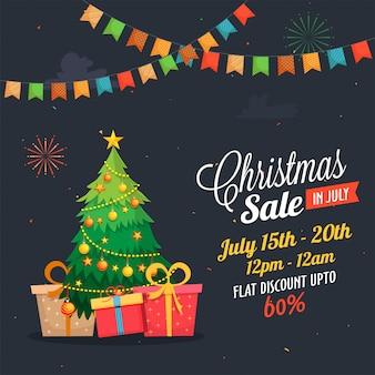 Kerst grootste verkoop in juli poster.