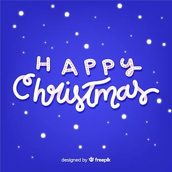 Kerst hand geschreven tekst achtergrond