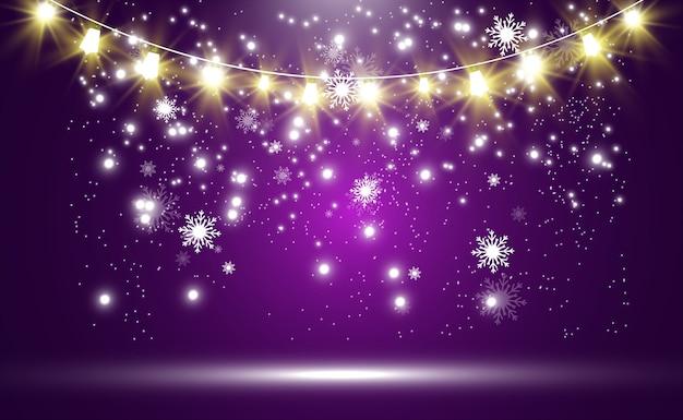 Kerst heldere mooie lichten ontwerpelementen
