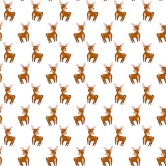 Kerst herten naadloze patroon rendieren achtergrond