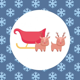 Kerst hertenontwerp