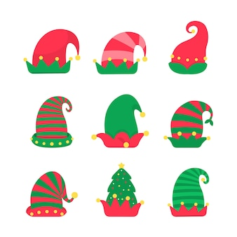 Kerst hoed. groene elfenhoed om je hoofd mee te versieren op kerstfeestjes.