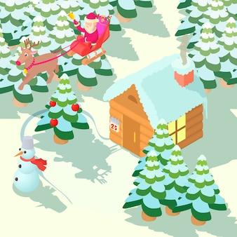 Kerst huis concept