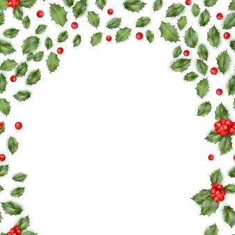 Kerst hulst tak grens.