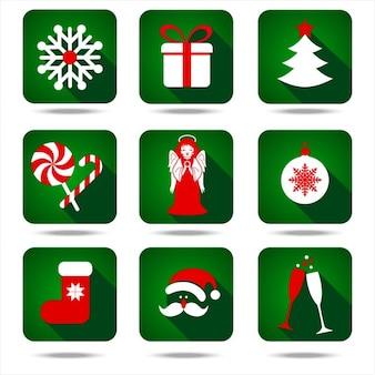Kerst icon set