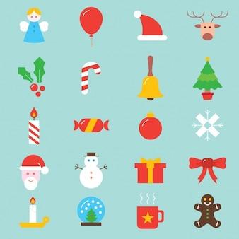 Kerst iconen collectie